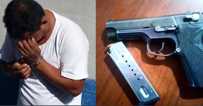 Capturan a delincuente armado en Usulután