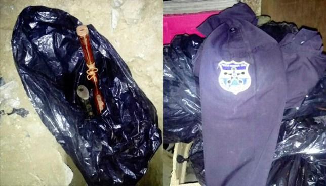 Encuentran uniformes de la PNC y armas de guerra dentro de una vivienda en Soyapango