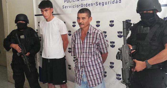 Homicidas capturados con 7 armas de fuego en San Miguel