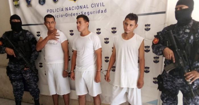 Capturados por lesiones, extorsión y organizaciones terroristas en San Miguel
