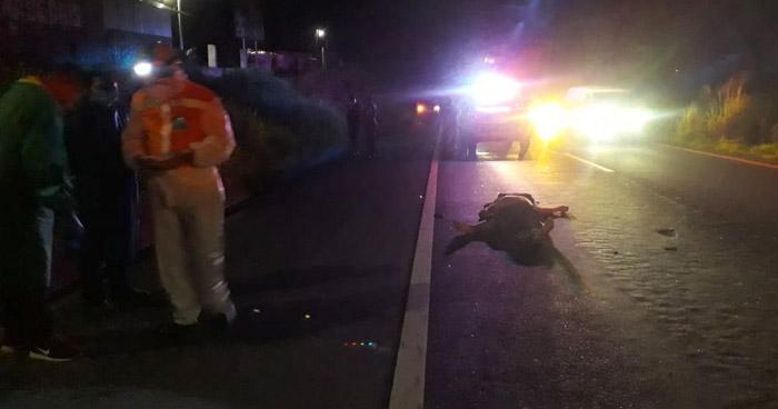 Automovilista huye tras arrollar y matar a un hombre sobre carretera de Oro