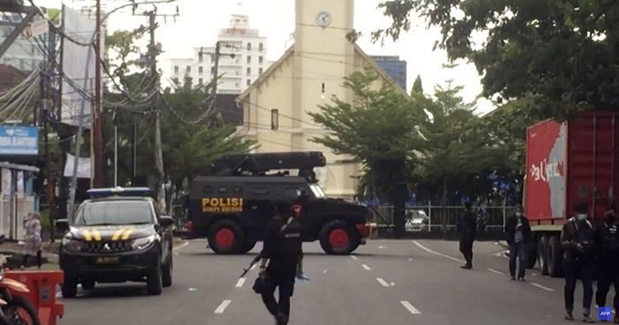 Al menos 20 heridos tras misa de Domingo de Ramos en Indonesia
