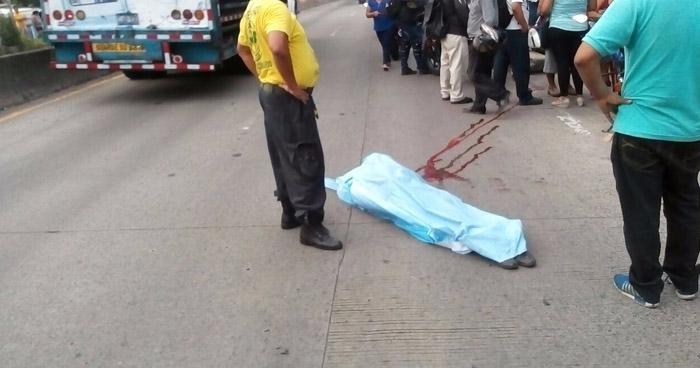 Anciano muere en carretera Troncal del Norte, tras ser atropellado