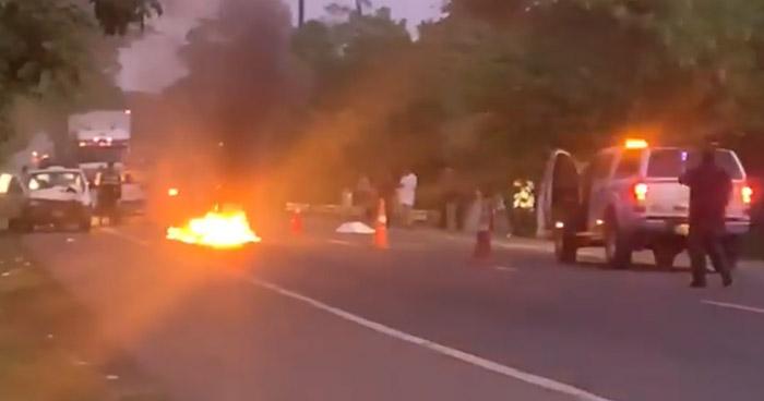 Hombre muere al ser atropellado sobre carretera Troncal del Norte