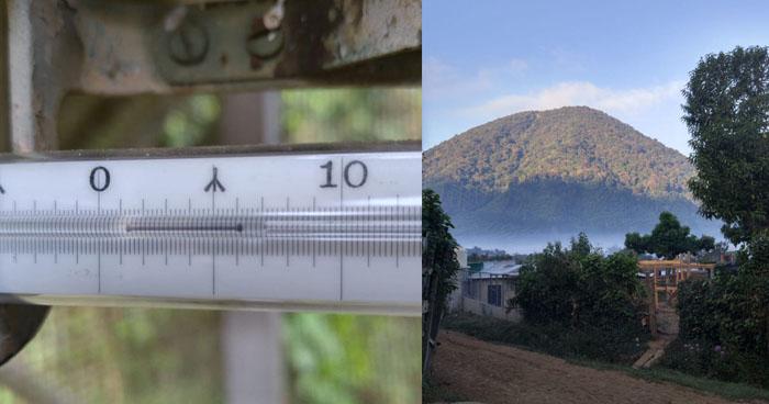 Hoy la temperatura bajó hasta los 6.2 °C en este punto de El Salvador