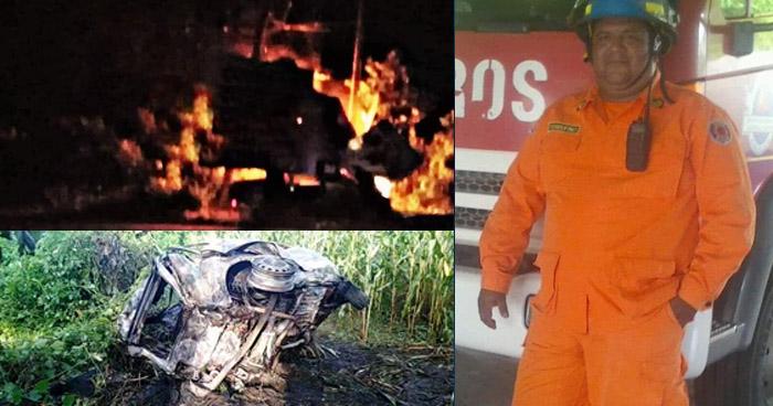 Bombero muere en fatal accidente en Concepción Batres, Usulután
