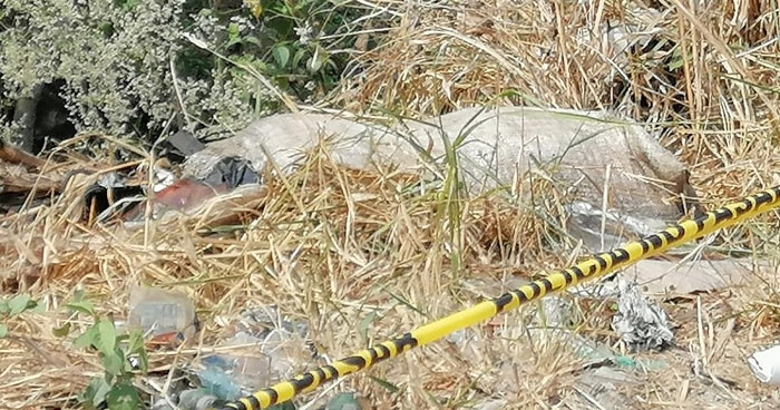 Encuentran cadáver adentro de un saco en Quezaltepeque