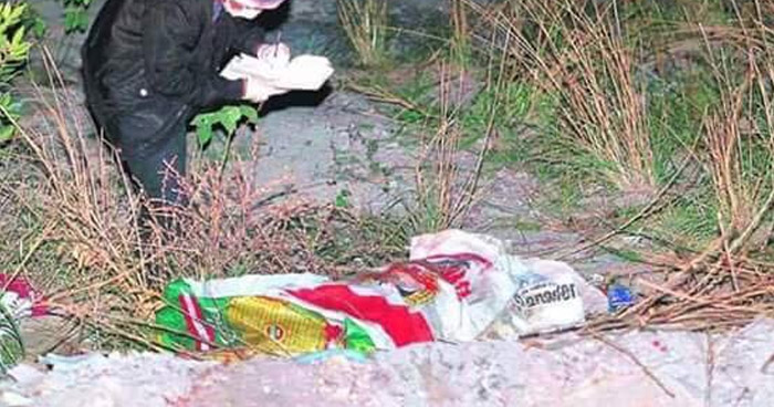 Encuentran cadáver al interior de un saco de nylon en San Juan Opico, La Libertad