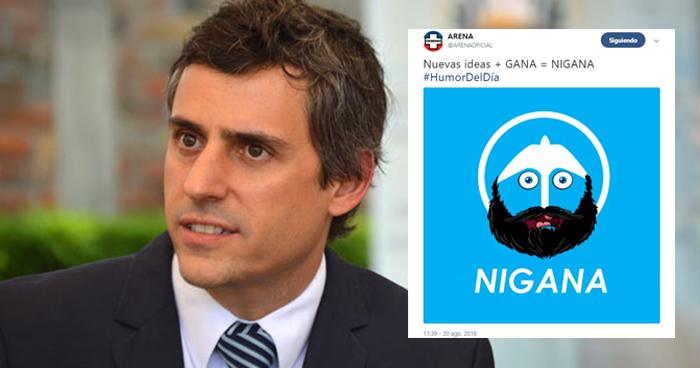 Calleja pide a ARENA borrar tuit con meme politico de Nuevas Ideas y GANA