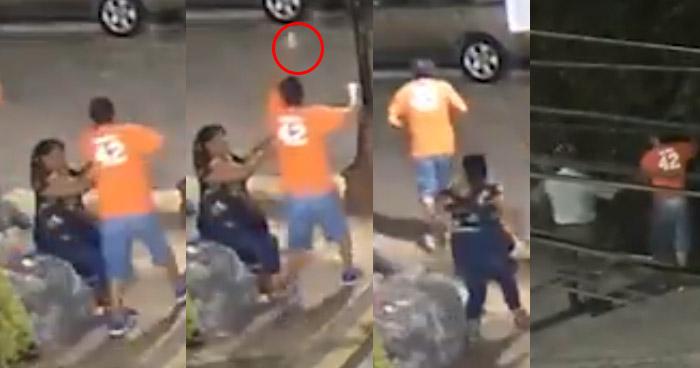 VIDEO: Mujer persigue y golpea a ladrón, luego el CAM lo capturó
