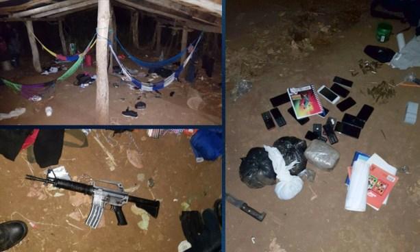Desmantelan escondite de pandilleros en Lolotique donde abandonan armas, abundante munición y medicina para asmáticos