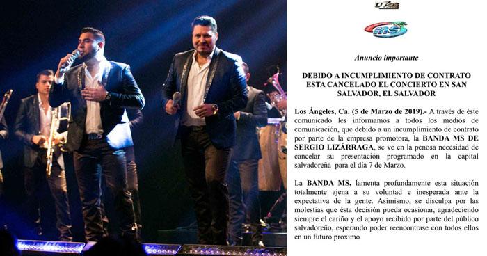 Banda MS confirma la cancelación del concierto en El Salvador y revela las causas