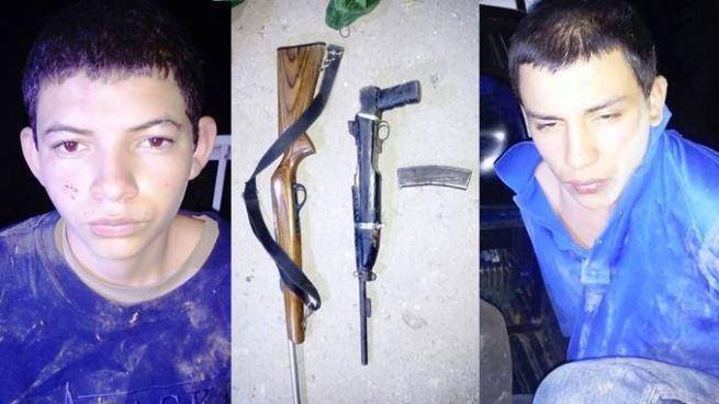 Capturan a dos primos pandilleros y les decomisan dos armas de fuego en Cabañas