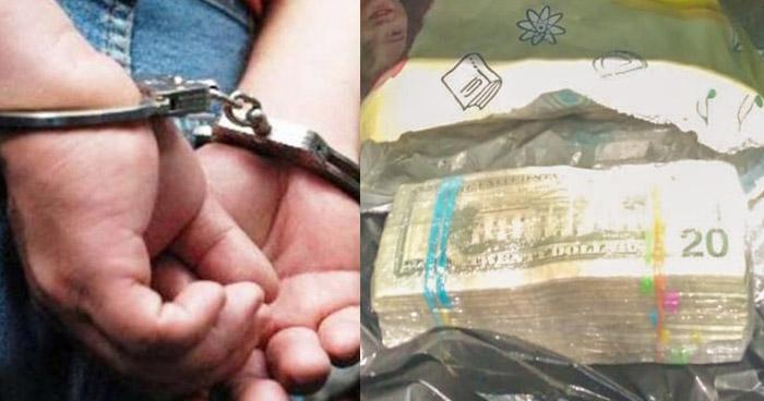 Transportaban dinero en efectivo oculto en bolsas de leche