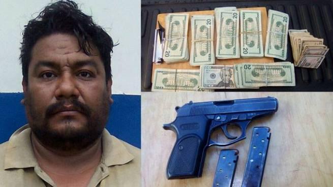 Capturan a hombre por portar arma de fuego ilegal y con más de 8 mil dólares en San Salvador