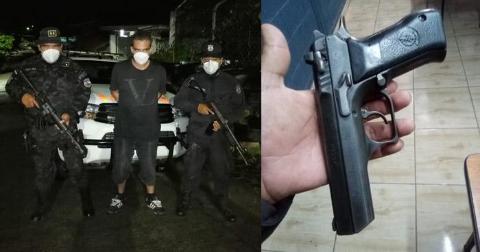 Capturan a sujeto armado en Ilobasco, Cabañas