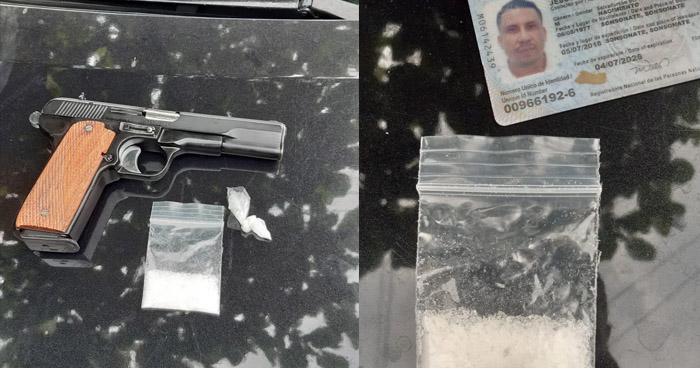 Colaborador de la MS capturado con droga y un arma