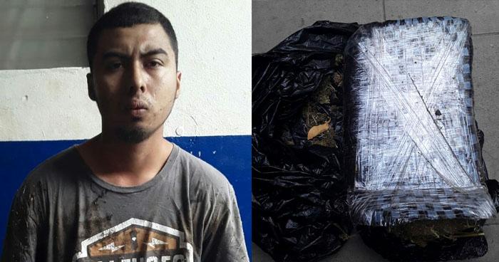 Incautan droga empaqueta e implementos para distribuirla a pandillero en Ahuachapán