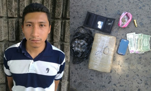 Capturan a sujeto quien transportaba una marqueta de droga junto a un menor de edad en San Salvador