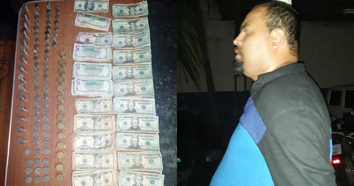 Capturado con más de $2,000 en efectivo de dudosa procedencia