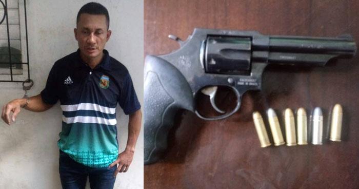 Capturan a vigilante que asaltó con un arma de fuego al interior de un centro comercial