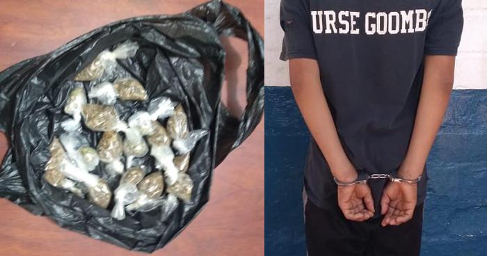 Adolescente capturado cuando distribuía drogas en Sonsonate