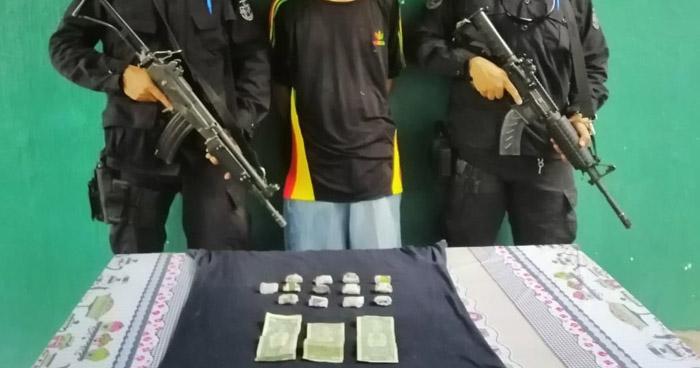 Capturado cuando transportaba porciones de droga