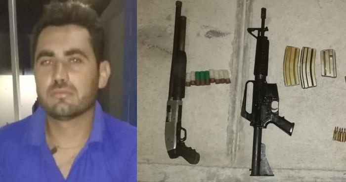 Detenido trataba de ocultar fusil M-16 y escopeta en terreno de San Juan Nonualco