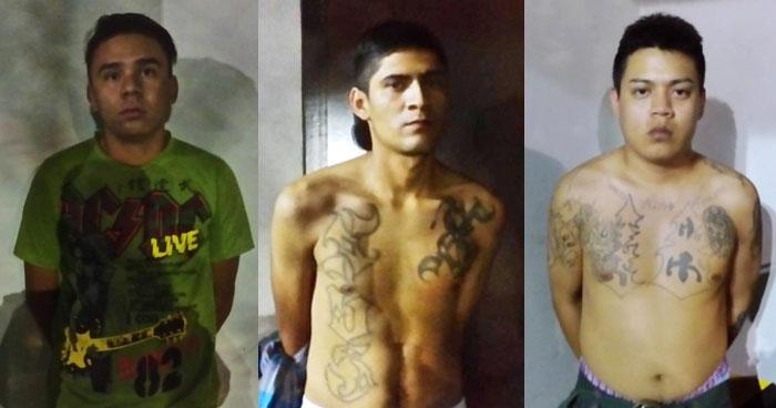 Pandilleros armados fueron capturados en San Salvador