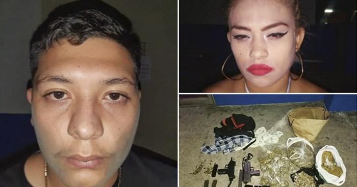 Capturan a pandilleros con subametrallador UZI, droga y otros ilícitos en San Salvador