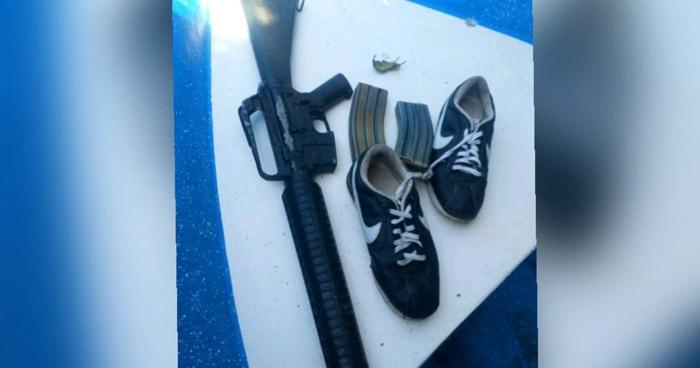 Dos pandilleros capturados tras robar motores y portar un arma larga
