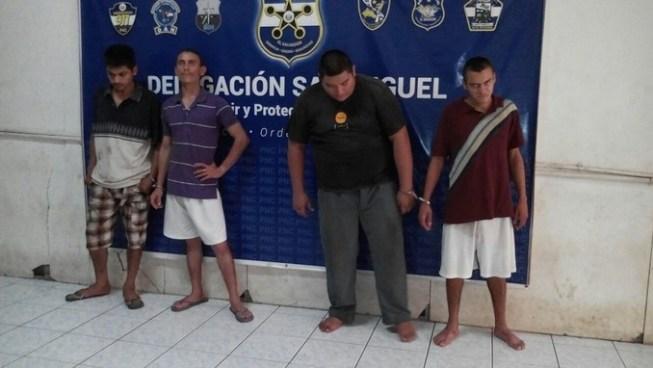 Policía realiza capturas e incauta 100 porciones de marihuana en San Miguel