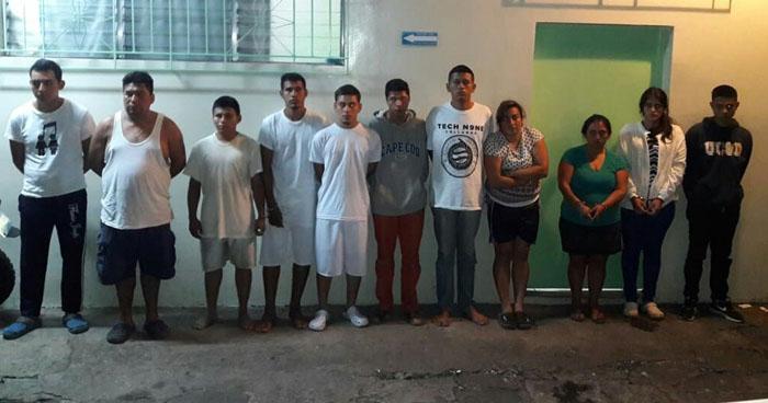 12 pandilleros fueron capturados durante un operativo en La Libertad