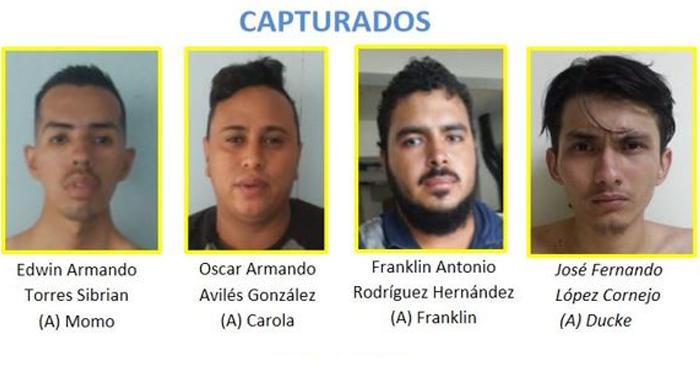 Capturan a 8 pandilleros por Actos de Terrorismo, intento homicidio y daños contra la Policía