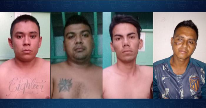 Pandilleros capturados por asesinar a una persona en una hacienda de Zaragoza