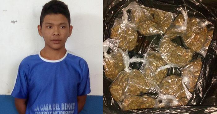 Capturan a pandillero cuando distribuía droga en Guatajiagua, Morazán