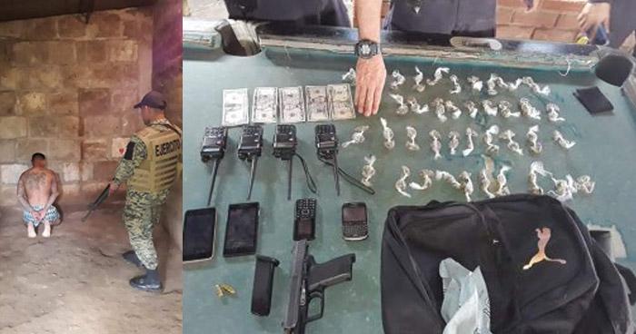 Miembro de la MS capturado con droga, celulares y 4 radios