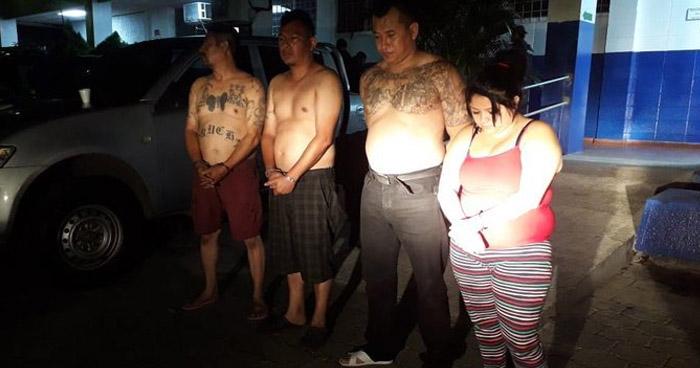 Capturados en Soyapango tenía su poder varias porciones de drogas