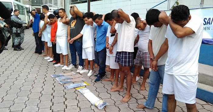 Capturan a 20 personas en diferentes puntos de San Salvador e incautan 2 kilos de cocaína