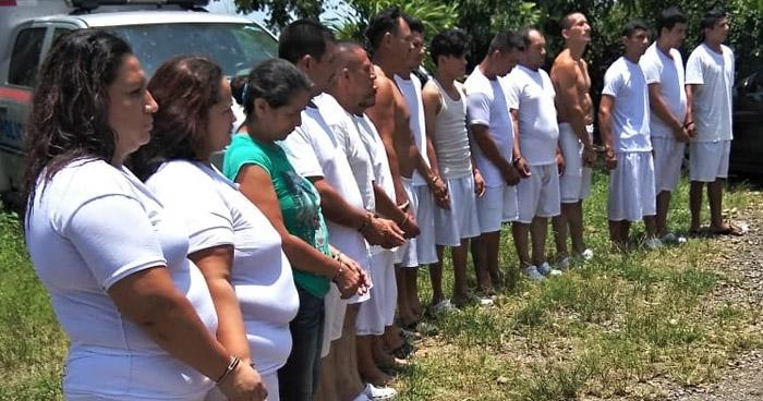 Capturan a 17 delincuentes que operaban en diferentes municipios de San Vicente