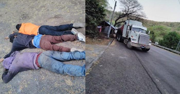 Capturados cuando llevaban secuestrado al conductor de una rastra
