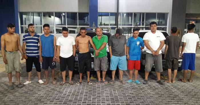 Capturan a 12 pandilleros que delinquían en San Juan Talpa, La Paz