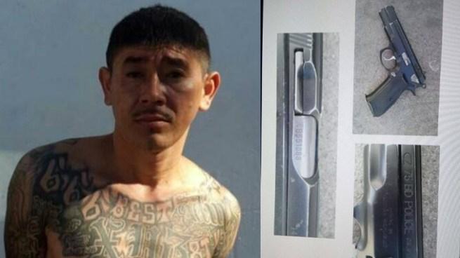 Capturan a reconocido gatillero de pandilla que tenía tres órdenes judiciales en Cuscatlán