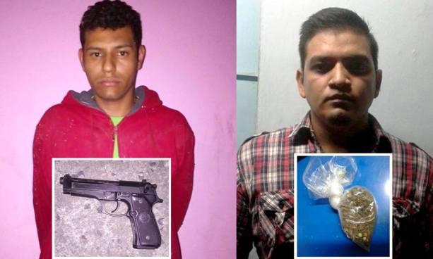 Arrestan a dos sujetos por diversos delitos en distintos puntos del país