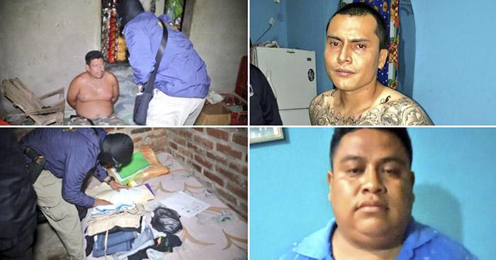 Cabecillas, corredores y palabreros de una pandilla capturados en operativo esta madrugada