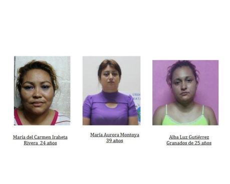 PNC captura a tres mujeres vinculadas en la trata de persona