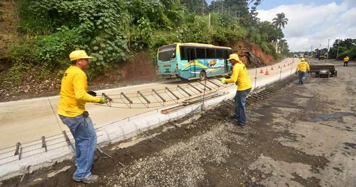 MOP anuncia cierres en la carretera al Puerto de La Libertad