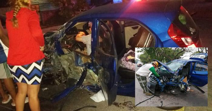 Tres personas resultaron lesionadas tras accidente de transito en la carretera de oro