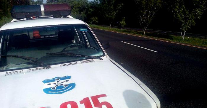 Hombre muere tras ser atropellado en la Carretera Panamericana, Cojutepeque