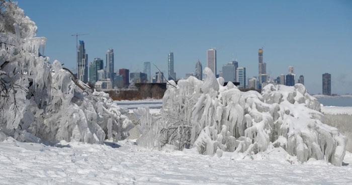 La temperatura descendió hasta -55° C en Chicago